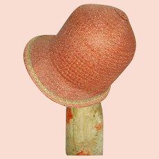 Vintage 1920's Authentic Flapper Girl Cloche Hat/Ladies Hat/Flapper Girl