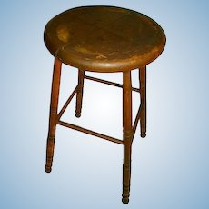 Early 1900's Antique Primitive Child Stool/Great for Large Doll