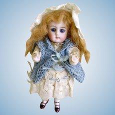 "Antique German Small Kestner Bisque Doll/Original Clothes 5 1/2""/Mold 130"