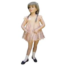 Fabulous Vintage 1930s Child Little Girl Mannequin/Dept. Store Child Mannequin on Stand