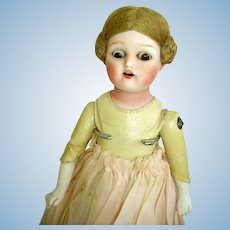 Antique Bisque Doll/Kid Leather Body