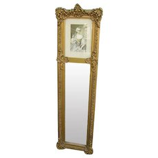 Antique French Trumeau Mirror Duchess Henriette de Bourbon
