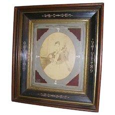 Antique Victorian Eastlake Carved Large Shadowbox Picture Frame - Red Tag Sale Item