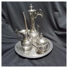 Coffee Set, Silverplate