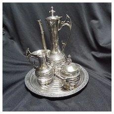 Coffee Set, Silverplate