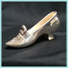 Shoe, silverplate