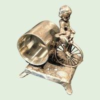 Figural Napkin Ring, Cherub
