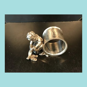 Figural Napkin Ring, Cupid