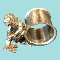 Figural Napkin Ring, Cupid