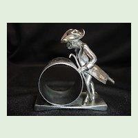 Figural Napkin Ring, Dressed Monkey