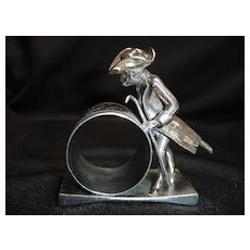 Figural Napkin Ring, Dressed Monkey