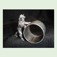 Figural Napkin Ring, Sailor Boy Pushing