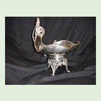 Bird Fruit Basket, Silverplate