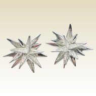 Signed SWAROVSKI Starburst Earrings