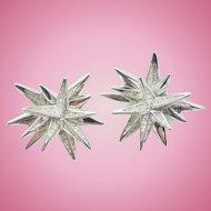 Signed SWAROVSKI Starburst Earrings