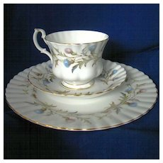 Royal Albert Brigadoon 3 Pc. Luncheon Set