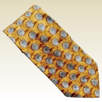 Ermenegildo Zegna Patterned 100% Silk Designer Tie