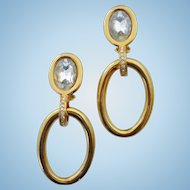 VALENTINO GARAVANI Signed Doorknocker Earrings