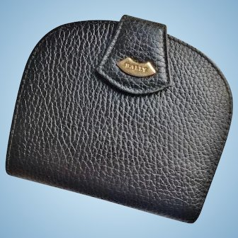 BALLY Ladies Black All Leather Bifold Wallet