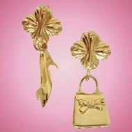 Vintage FENDI Shoe & Handbag Charm Earrings