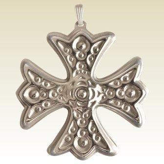 Reed & Barton Sterling 1975 Christmas Cross Ornament