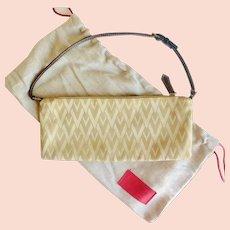 VALENTINO GARAVANI  Monogram Canvas & Leather Handbag w/ Sleeper Bag