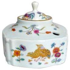 Vintage Haviland Limoges 'Golden Quail' Porcelain Inkwell
