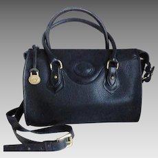 Vintage DOONEY & BOURKE Black All Weather Leather Satchel Bag