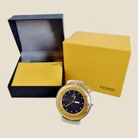 New FENDI 900C Desk Clock With Day/Date