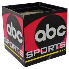 1980's Game Used ABC Sports Microphone Flag