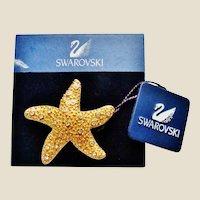 Vintage Swarovski Starfish Brooch on Original Card NOS