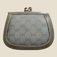 Vintage GUCCI Monogram Kiss Lock Coin Purse