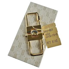 New Vintage GUCCI Valet Key Fob With Tags in Original Box