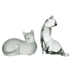 "Lenox Crystal 1996 ""Hugs & Kisses"" Cat Figurines"