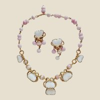 Julio Marsella Mayorka Petals Poured Glass Necklace & Earrings