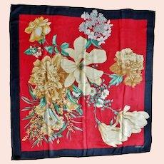 Valentino Garavani Floral 100% Silk Chiffon Scarf