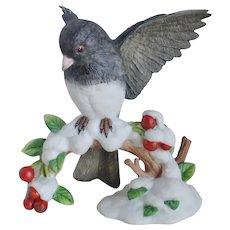 Lenox Porcelain 'Dark-Eyed Junco' Bird Figurine