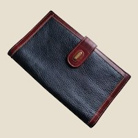 Bally of Switzerland Two-Tone Leather Bi-Fold Long Wallet