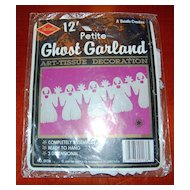 Circa 1990 BEISTLE 12' Halloween Ghost Art-Tissue Paper Garland