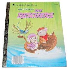 1977 Walt Disney ~ The Rescuers ~ Little Golden Book ~ Mint