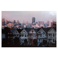 c1984 Christopher Egan Signed 'Painted Ladies' San Francisco Victorian Architecture / Townhouse Original Photograph in Frame