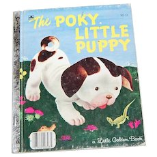 "Circa 1970 ""The Poky Little Puppy"" Little Golden Book Illustrated Children's Book"