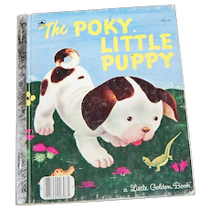 c1970 'The Poky Little Puppy' Little Golden Book Illustrated Hardcover Children's Book