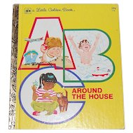 1978 ABC Around the House A Little Golden Book