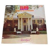 "Copyright 1977 Elvis Presley ""Live on Stage in Memphis GRACELAND"" RCA LP Vinyl Record w/ Sleeve"