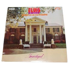"Copyright 1977 Elvis Presley ""Live on Stage in Memphis GRACELAND"" RCA LP Vinyl Record w/ Sleeve"