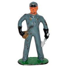 1930s Barclay ~ Railroad Mechanic Lead Toy Figurine