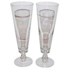 1950s CAMEL Cigarette Advertising Etched Pilsner Barware Glass