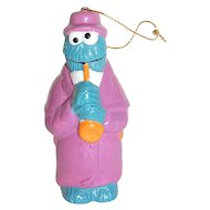 Collectible Sesame Street Cookie Monster with Saxophone Christmas Ornament