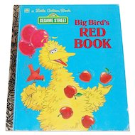 1990 Big Bird's Red Book Little Golden Book
